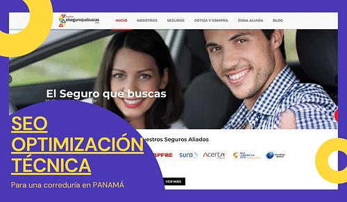 SEO Optimización para Aseguradora en Panamá - SEO