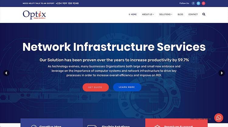 Optix's Website Project