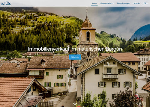 Salteras AG - Bergün - Création de site internet