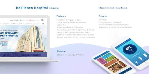 Kokilaben Hospital - Website Creation
