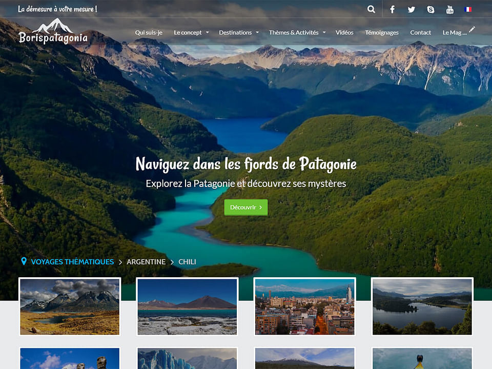 Création site internet pour agence de voyages