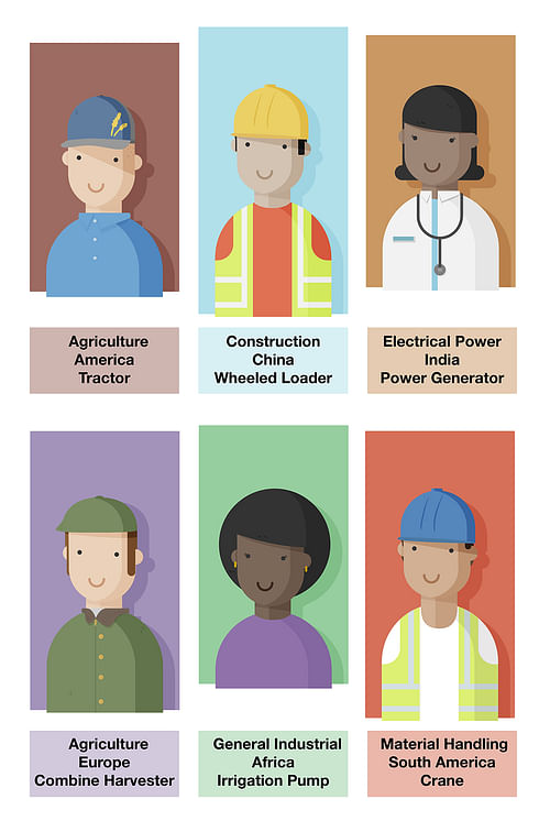 Characters designed for an international video - Graphic Design