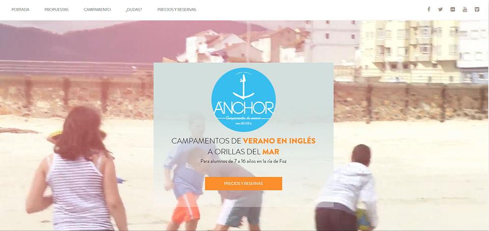 Página web Anchor