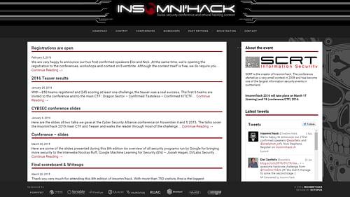 Insomi'hack - Création de site internet