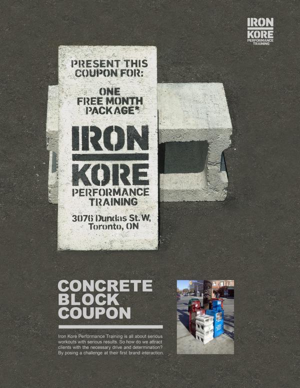 Concrete Block Coupon - Advertising