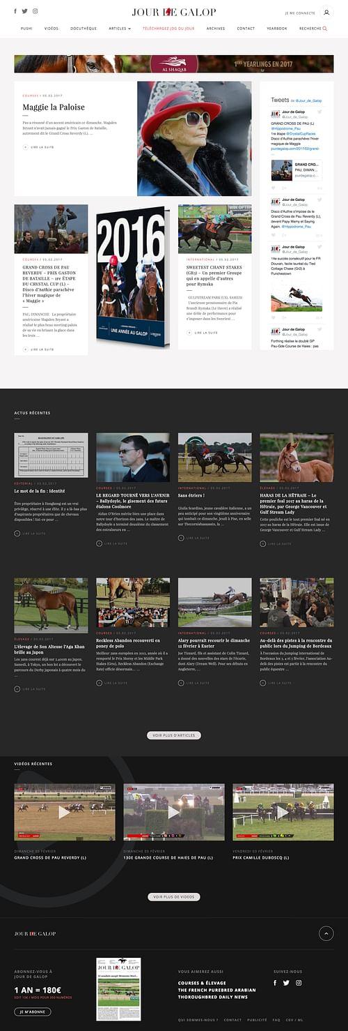 Media : Jour de Galop - journal quotidien en ligne - Création de site internet