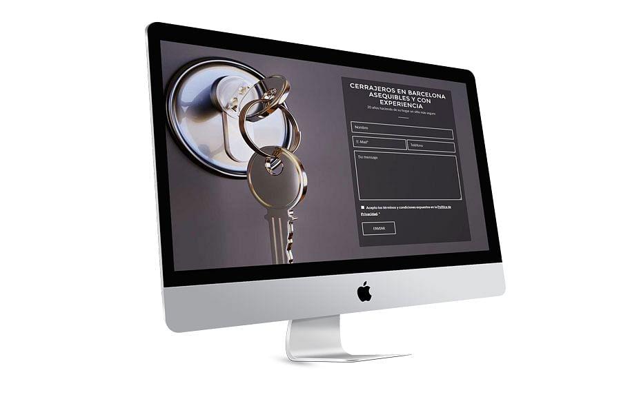 Diseño Web Cerrajería TDA