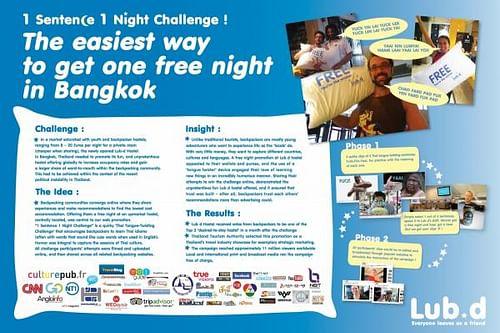 1 SENTENCE 1 NIGHT CHALLENGE - Advertising