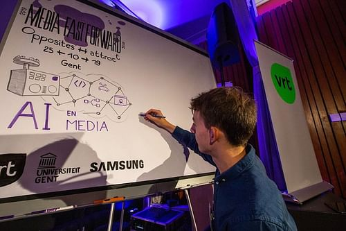 Graphic recording for national public broadcaster - Ontwerp