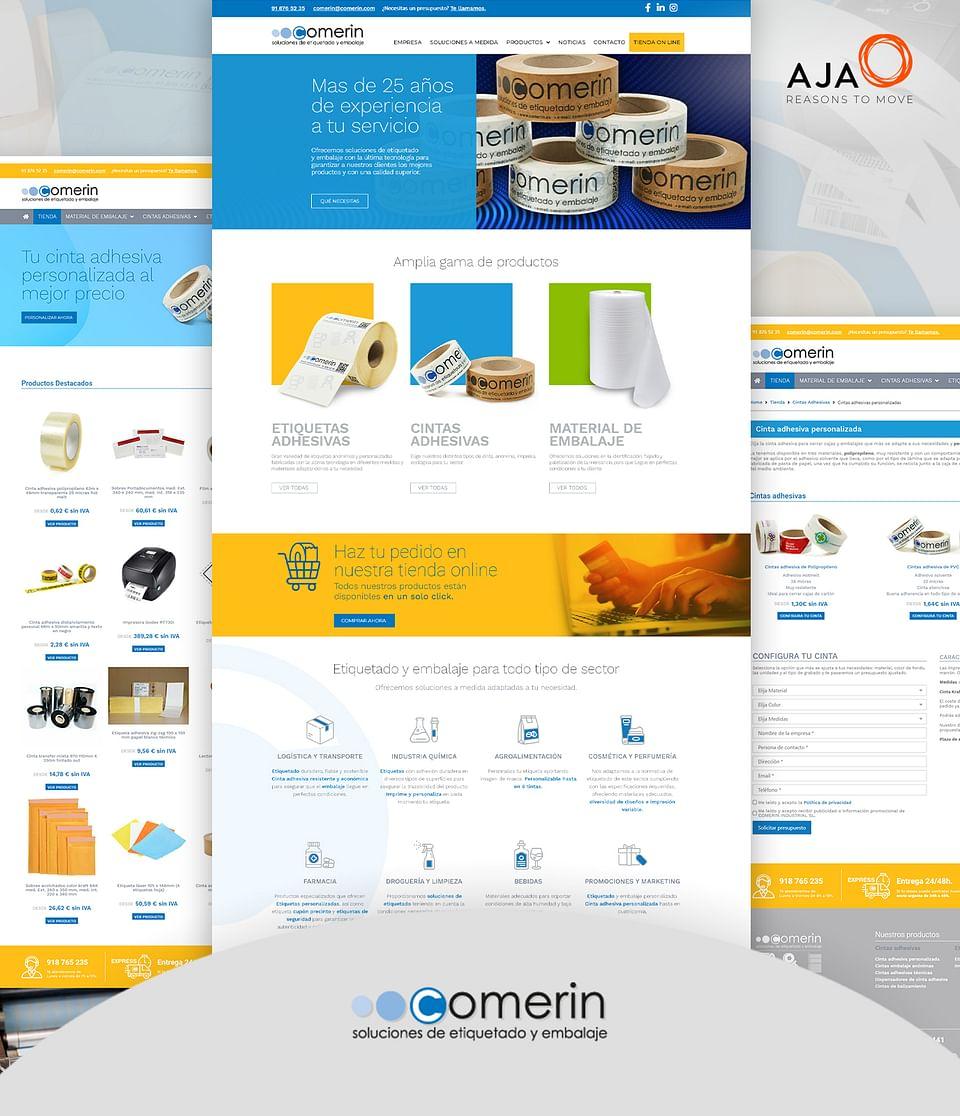 Creación de ecommerce para Comerin Industrial