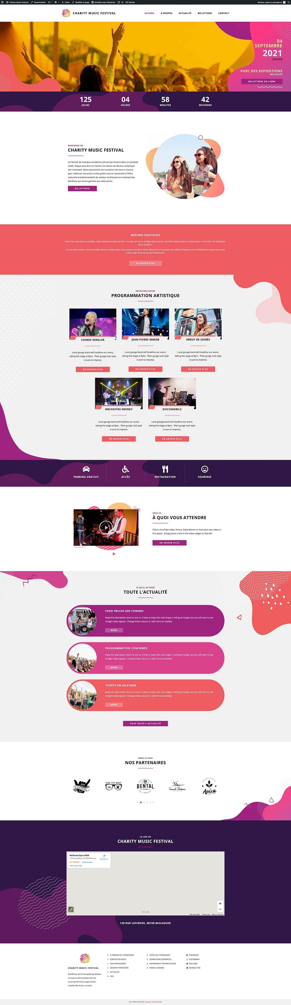 Site e-commerce Charity Music Festival
