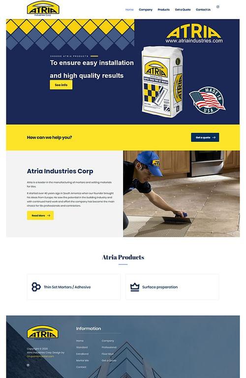 www.atriaindustries.com - Website Creation