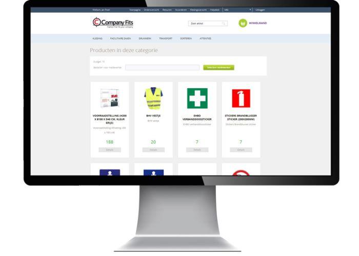Maatwerk gesloten webshop - Web Applicatie