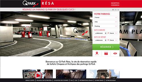 Q-PARK RESA - Création de site internet