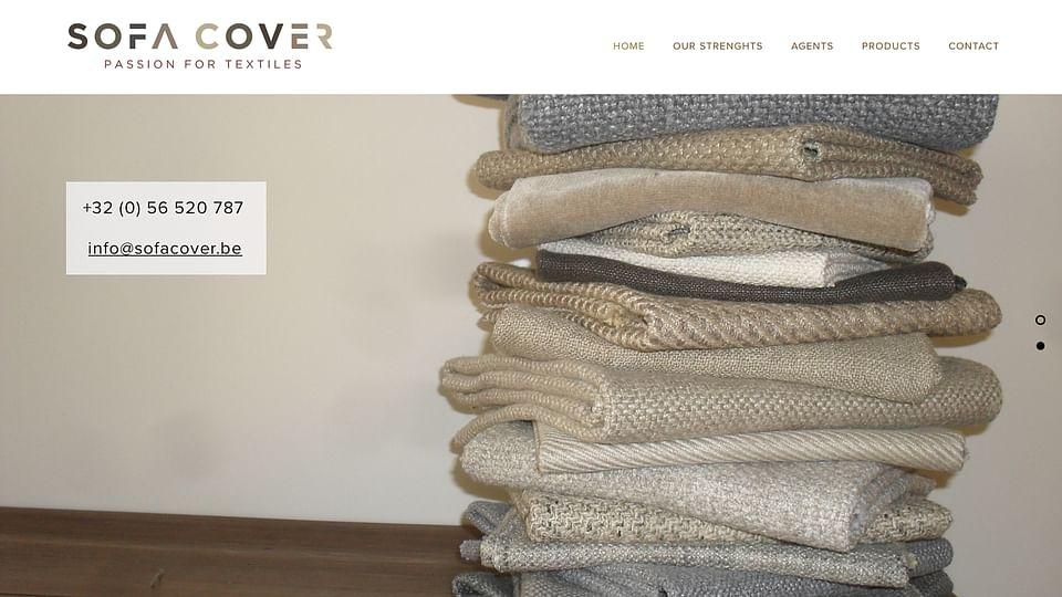 Website design voor Sofa Cover