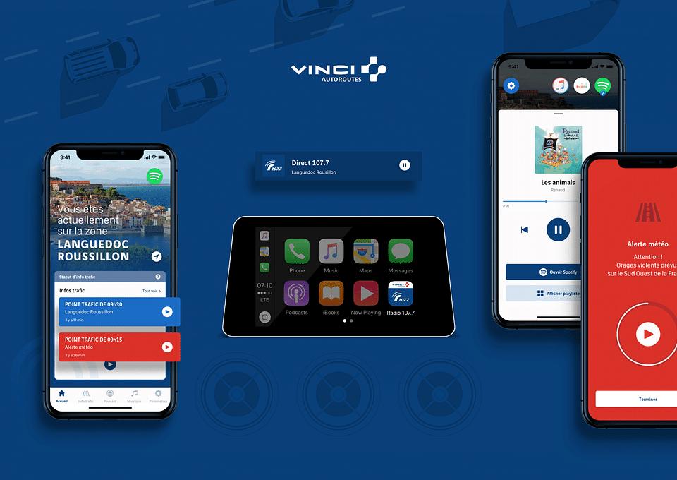 Application mobile Radio VINCI Autoroutes