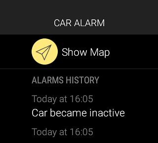 Car Alarm - app for car security - Mobile App