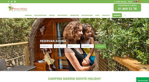 Desarrollo Web Monte Holiday Ecoturismo - Estrategia digital