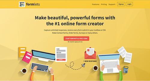 Formlets Saas Platform - Création de site internet