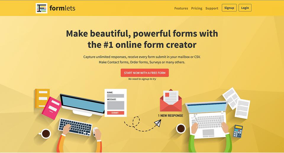 Formlets Saas Platform