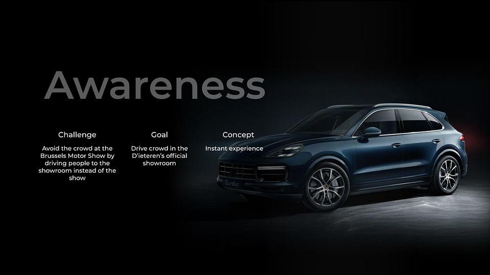 Motorshow campaign for Porsche Belgium