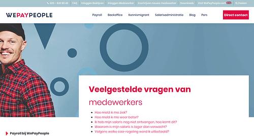 Contentcreatie & SEO-strategie voor WePayPeople - Content Strategy