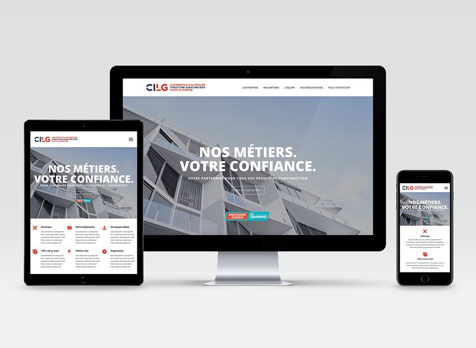 Website design et développement pour CILG BTP.