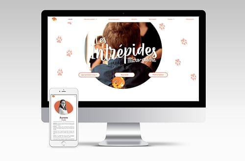 Site web vitrine - Les Intrépides Micro-crèche - Création de site internet