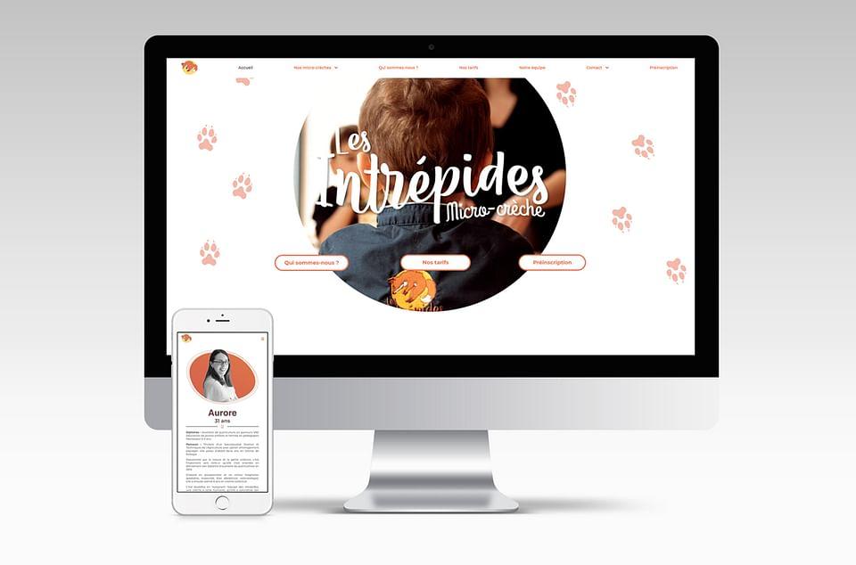 Site web vitrine - Les Intrépides Micro-crèche