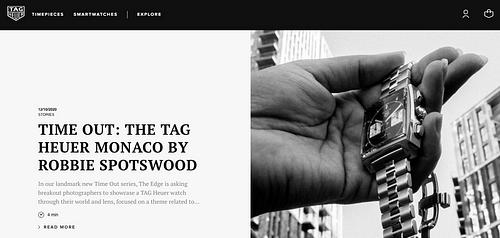 TAG Heuer - Création de site internet