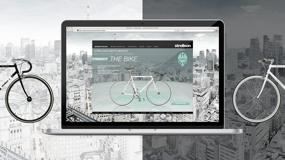 Strellson meets Bianchi - Online-Kampagne