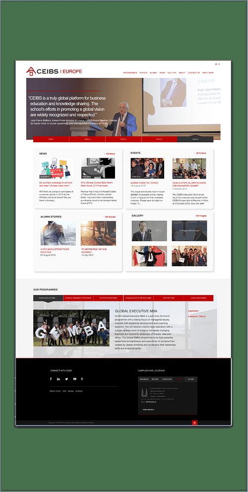 CEIBS - Création de site internet