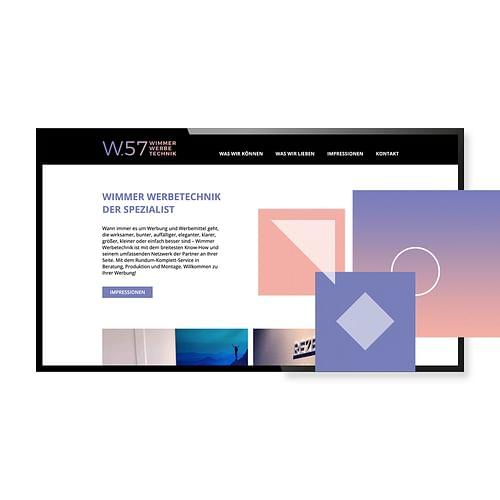 Neue Website für w.57 - Webseitengestaltung