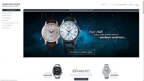 Campagne marketing, ecommerce Seiko France - E-commerce