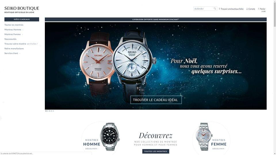 Campagne marketing, ecommerce Seiko France