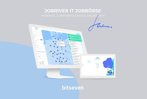 Jobriver IT Jobbörse - Webseitengestaltung
