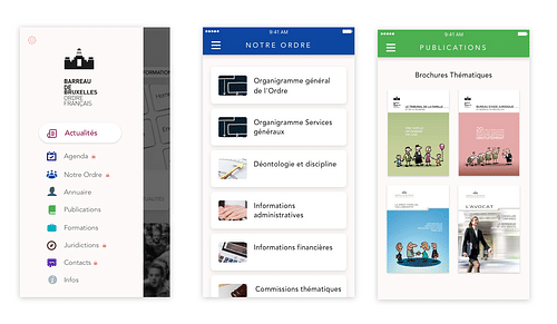 iOS & Android - App for Brussel's Lawyers - Application mobile