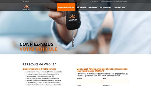 Swiss Web Car - Création de site internet