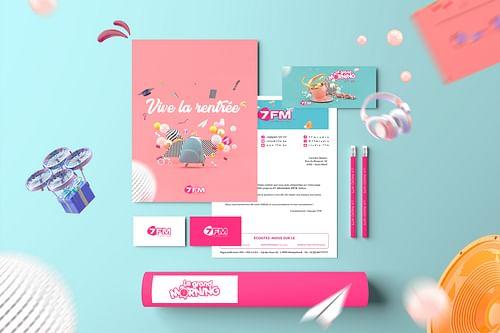 Rebranding 7fm - Design & graphisme