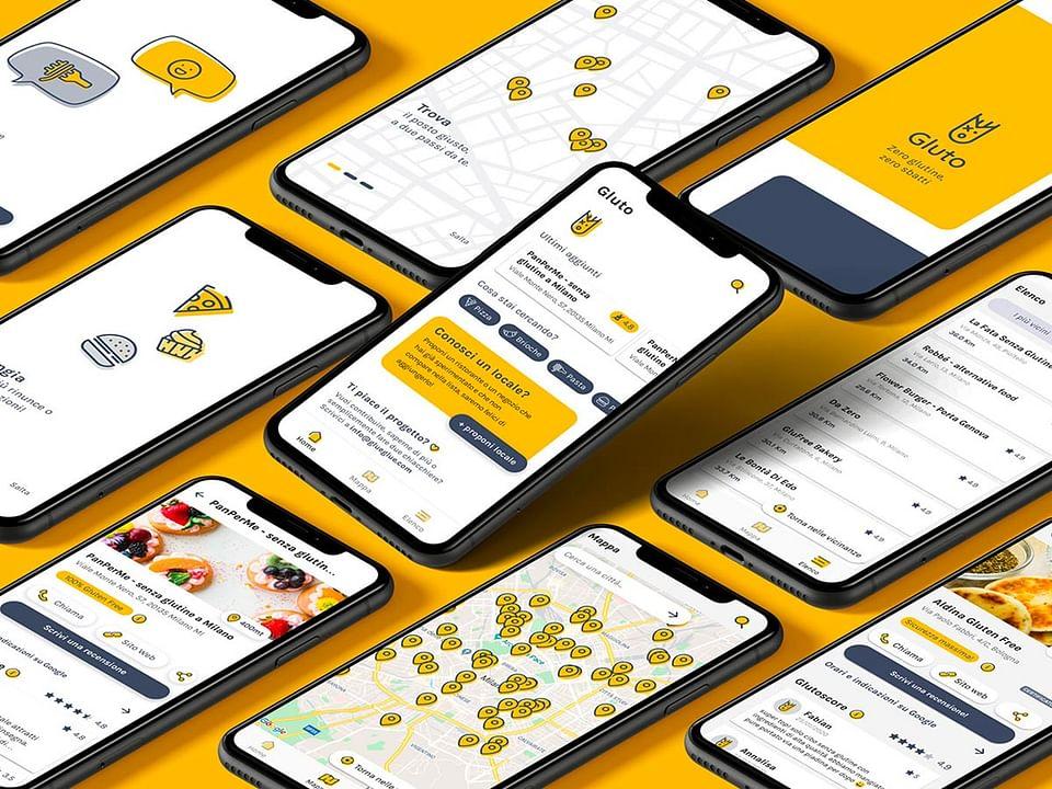 Gluto - UX/Ui design e sviluppo applicazioni