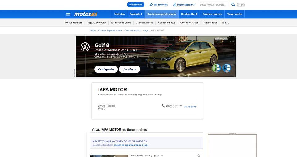 Página web LapaMotor