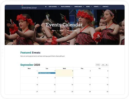 Grant's Braes School Digital Platform - Website Creation