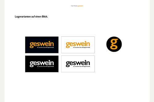 Geswein Versicherungsmakler Kampagne und Website - Webseitengestaltung