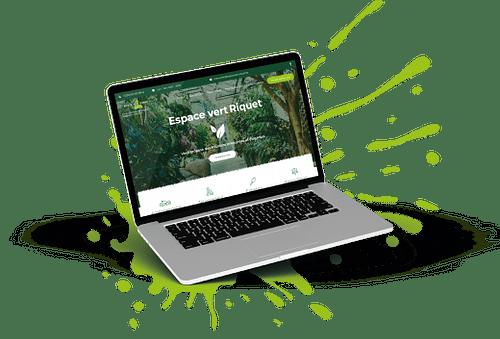 Site vitrine entreprise entretien d'espaces verts - SEO