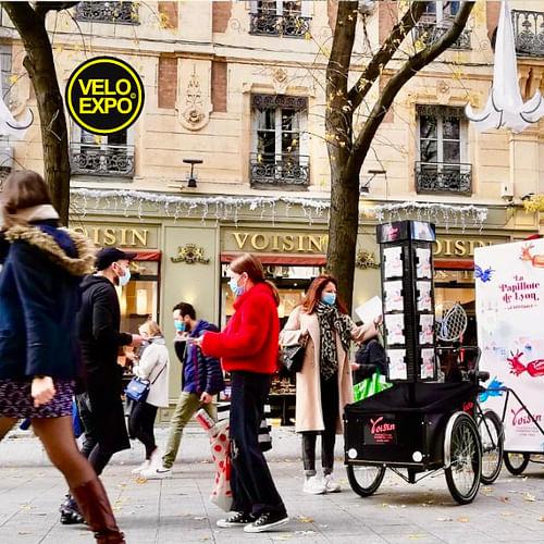 VELO EXPO pour VOISIN CHOCOLATIER - Publicité