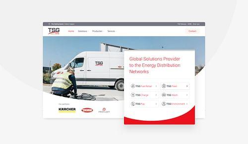 TSG Corporate website voor 30+ landen - Branding & Positionering