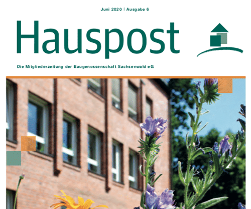 Baugenossenschaft Sachsenwald: Mietermagazin