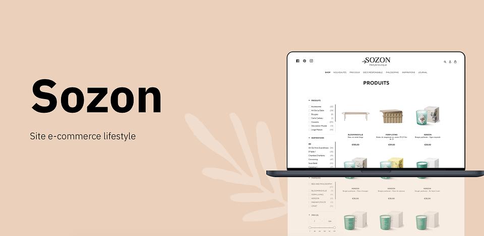 Sozon - Site e-commerce lifestyle