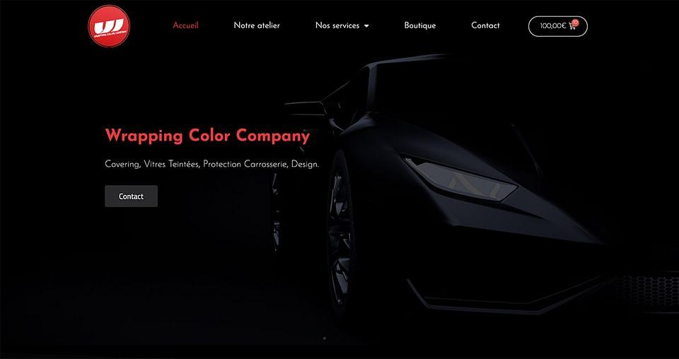 Création de site e-commerce Wrapping Color Company