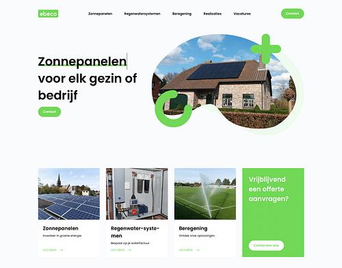 Een frisse website voor een milieubewust bedrijf - Website Creatie